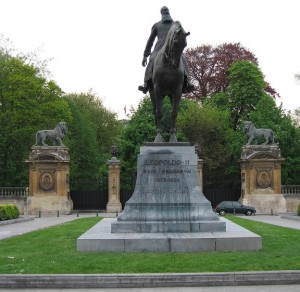 Imposing statue of King Leopold II on his horse is proudly found at Place du Trône which is surrounding the Royal Palace in Brussels, Belgium. How about a Hitler statue of same sort in Germany?