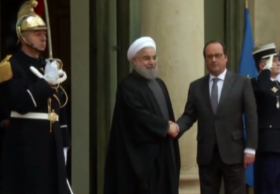 rouhani france hollande